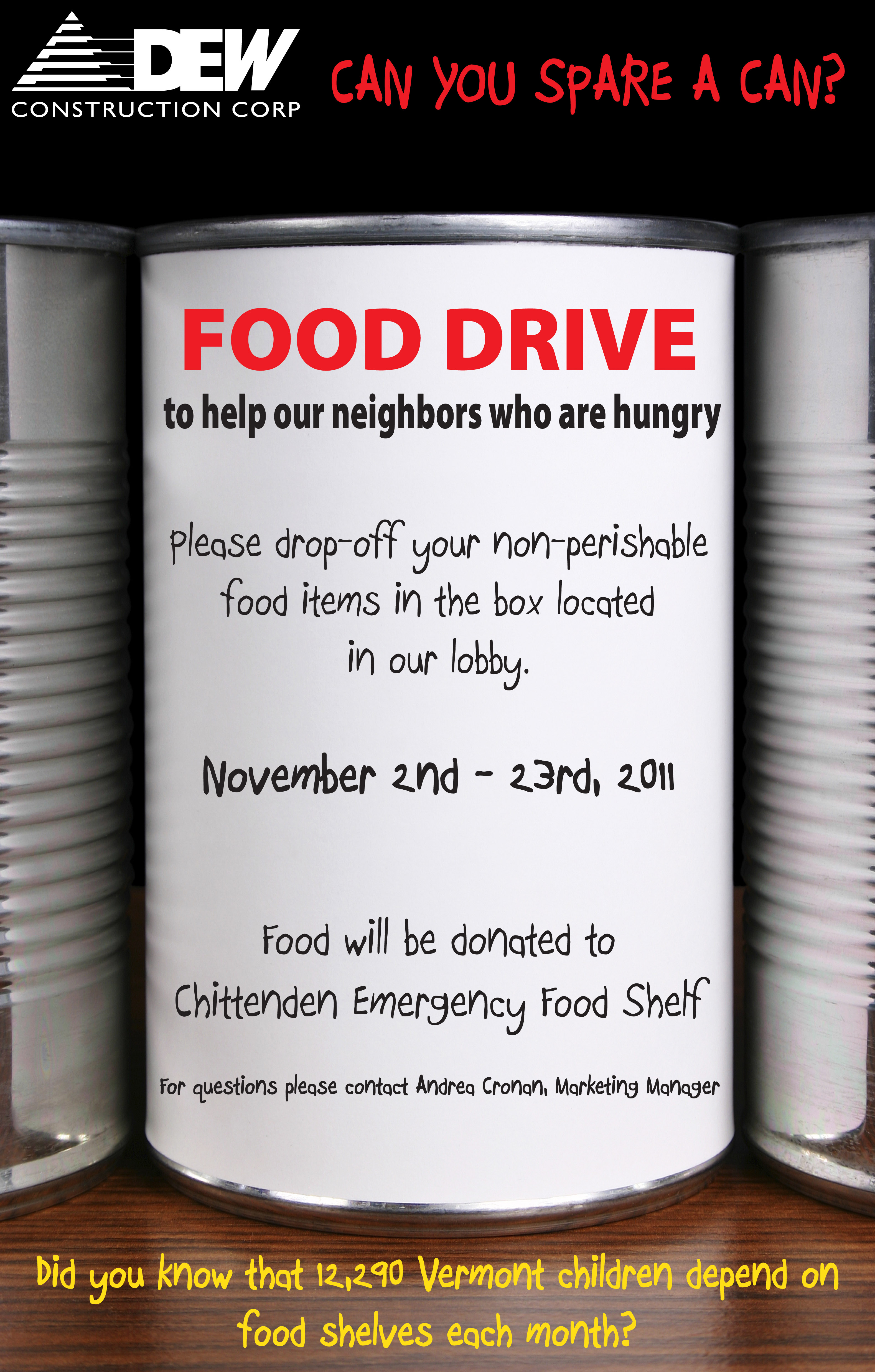 Dew Food Drive Dew Construction Latest News